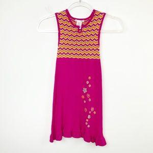 Deux Par Deux Zig-Zag Hot Pink Knit Dress 5